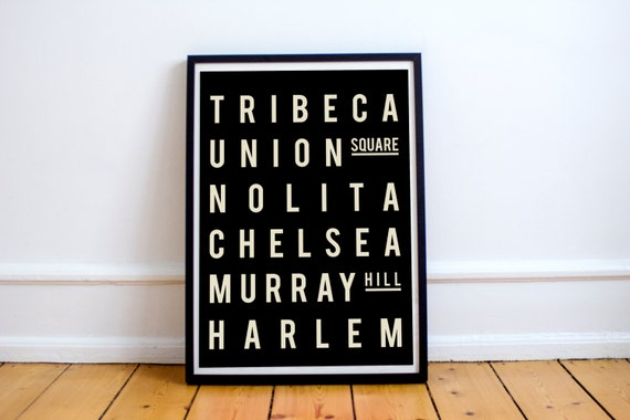 New York Cityscape - Murray Hill - Neighborhood Poster - Industrial Style - Gift for New Homeowners - Living Room Poster