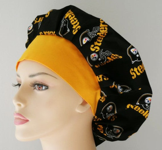 Bouffant Surgical Scrub Hat - NFL Pittsburg Steelers Medical Scrub Hat