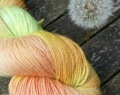 Hand Dyed Sock Yarn, Singles Sock Yarn, light fingering weight yarn, Falkland Merino yarn, 100g