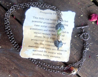 Money Spell wiccan jewelry prosperity spells necklace wicca pagan luck gambling witchcraft occult metaphysics new age magick magic