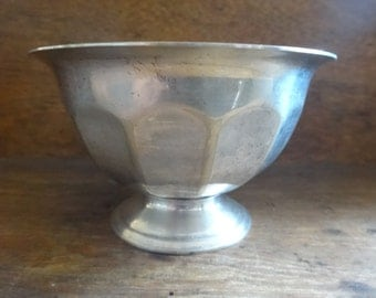 Vintage English Sheffield EPNS Silver Plated Metal Sugar Pot Bowl Condiment Dish Vase circa 1910-20's / English Shop
