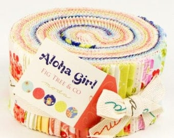 Aloha Girl Jelly Roll by Fig Tree & Co for Moda