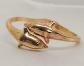 Vintage Gold Dolphin Bracelet