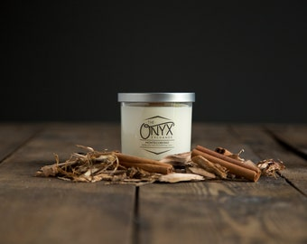 Montecorvino - Cinnamon and Cedarwood - 7 oz. Lux Soy Wax & Essential Oil Candle - Holiday Candle
