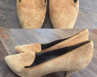 Mustard yellow velvet cinderalle ever after heels