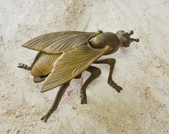French Ashtray Fly Bug Brass insect