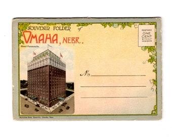 Vintage Omaha Nebraska Postcard Souvenir Folder