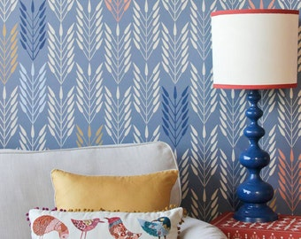 Picaya Quiver Tribal Feather Wall Stencil Allover Wall Stencil for Easy DIY Wallpaper Decor