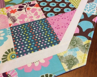 Clearance sale! 50% off all items in stock! Quilted Table Runner, Spring, Modern