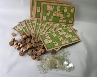 Vintage Wonderful Old Bingo Game