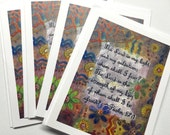 Blank Note Card Set, Stationary Note Card, Stationary, Christian Art Bible Verse, Inspirational Art, Modern Christian Art, Religious