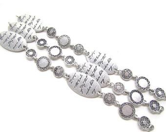 3 Decorative Script Jewelry Chains/Metal Tags