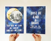 Valentines Gift -  Moon & Stars Print - Perfect Gift for Loved Ones
