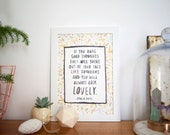 Roald Dahl - You'll Always Look Lovely - 'Sunbeams' Quote A4 Art Print - Perfect Gift for Children