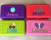 SALE- Personalized Pencil Box, Kids Pencil Case, Great Personalized Party Favor