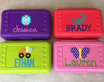 Personalized Pencil Box, Kids Pencil Case, Great Personalized Party Favor