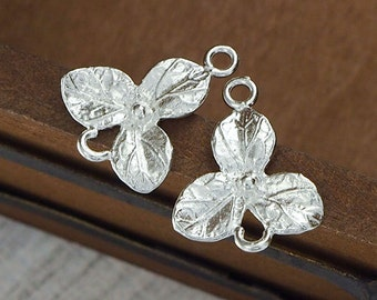 2 of 925 Sterling Silver  Flower Connectors,Links 10x13 mm. :th1562