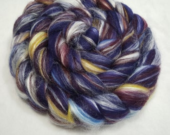 Merino/Tussah Silk Roving 70/30 - 4 oz - Ashland Bay Concord - 21.5 Micron