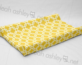 Changing Pad Cover Contoured - Corn Yellow Square - CP1