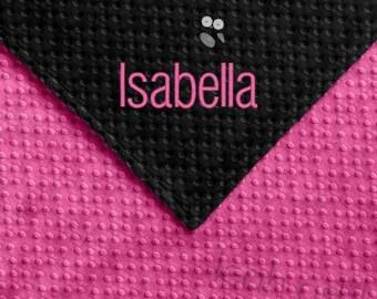 Baby Blanket - Hot Pink MINKY Dot, Black MINKY Dot - Olivia - BB1