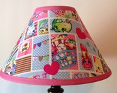 Shopkins Patchwork Children's Fabric Lamp Shade