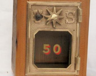 Post Office Door Bank No 50 - 1902 Star Door - Barn Wood - FREE SHIPPING