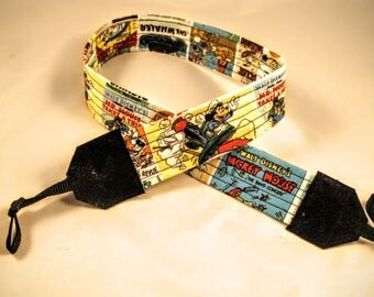 Mickey Mouse Camera Strap Vintage Cartoon Disney