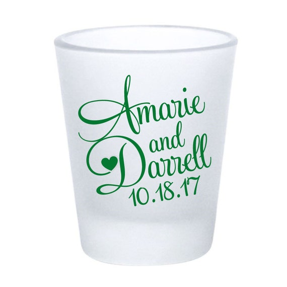 wedding favor shot glasses 168 custom personalized frosted glass
