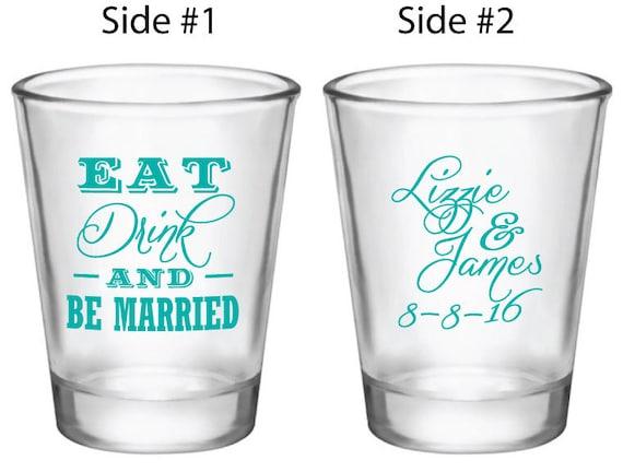 Wedding Favor Boxes For Shot Glasses : Wedding Favors Shot Glasses 144 Personalized 1.5oz Glass Shot Glasses ...