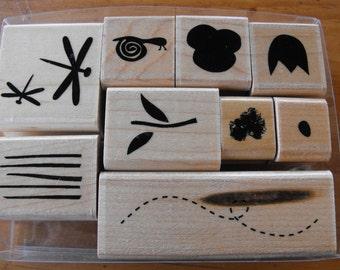CTMH Close to my heart - Stamp Set  - Contemporary Garden Set - Set 63