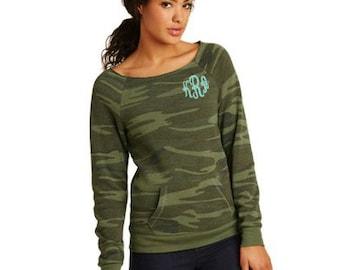 Womens Monogrammed Pullover- Monogrammed Sweatshirt - Embroidered Sweatshirt