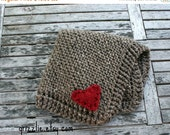 PRE FALL SALE Baby Blanket with Heart/ Barley/The Mini Abra // Ready To Ship //