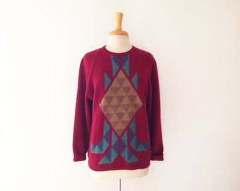 rare Late 1970s GUCCI  southwestern motif  sweater size medium