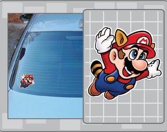 RACCOON MARIO vinyl decal from Super Mario Bros. 3 Sticker for almost anything!
