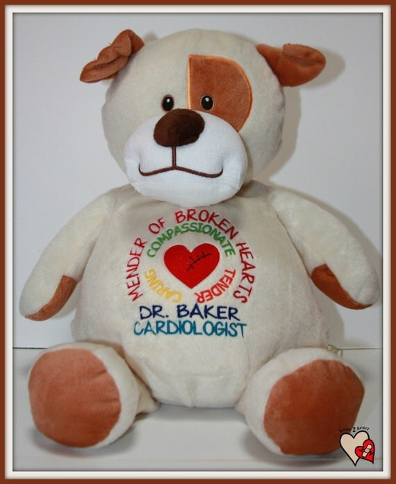 CHD Doctor Pets personalize a thank you gift for the doctor that takes care of your CHD child, stuffed animal.