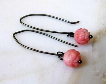 Pink Coral earrings