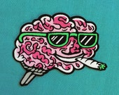 """Brain on Drugs 3.5"""" iron-on patch"""