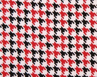Robert Kaufman. Red/Black Houndstooth KNIT - See description for full pricing - Choose your cut