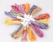 DMC Embroidery Floss 6 Stranded Cotton Embroidery Thread cross stitch bright vibrant red pink fuchsia Hand dyed embroidery thread variegated