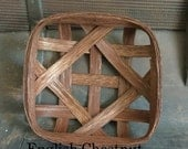 """8"""" x 8"""" Reproduction NC Style Tobacco Basket- Made to order (Please read full description)"""