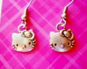Hello Kitty vintage silver dainty Earrings