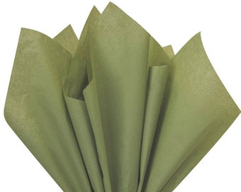 Tissue Paper . Moss Green| 24 Sheets . green DIY Wedding Decor | Gift Wrap . Craft Supplies | DIY Pom Pom Supplies