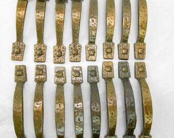 Vintage Amerock cabinet handles drawer pulls architectural salvage 1960s cabinet handles door handles vintage kitchen antique brass 20 pulls