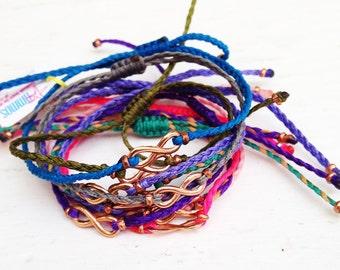 Infinity Friendship Bracelet - Rose Gold