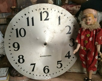 1940s International Business Machines Vintage Metal Large Clock Face