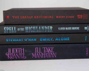 Black Book Bundle, Four hardcover black books with colored spines