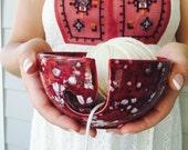 Pottery Knitting Bowl | Knitting | Knitting Bowl | Ceramic | handmade in my Charleston, SC studio