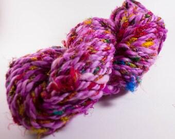 Art Yarn, Handspun Art Yarn, 44 yds., 4 wpi, Super Bulky