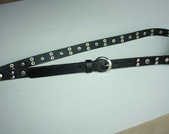 Vintage Soft Belt - Black Belt - Faux Leather Belt - can fit for Size S and M -