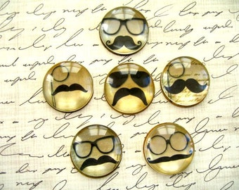 Mustache Magnet, Mustache Fridge Magnet, mustache Round Magnet Style 2